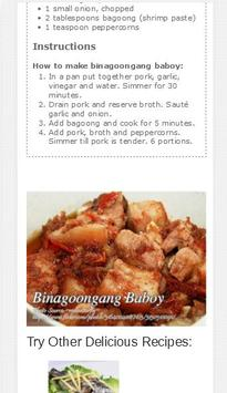 Panlasang Pinoy Meaty Recipes (Official) apk screenshot
