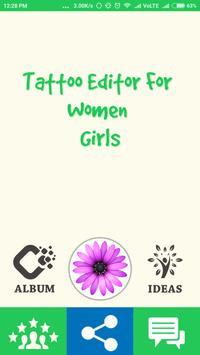 Tattoo For Women & Girl Editor poster