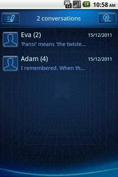 Easy SMS Blue Technology Theme screenshot 4