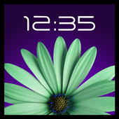 Rotating flower with Clock icon
