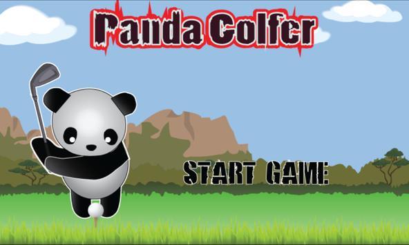 Panda Golfer poster