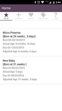 Preemie Adjusted Age Tracker poster