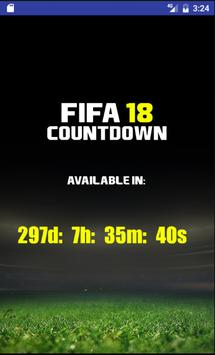 Countdown for FIFA 18 poster
