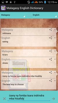 Malagasy English Dictionary screenshot 2