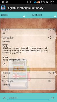 English Azerbaijan Dictionary screenshot 1