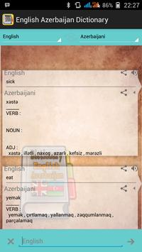 English Azerbaijan Dictionary screenshot 2