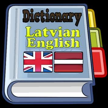 Latvian English Dictionary poster