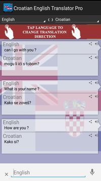Croatian English Translator Pr poster