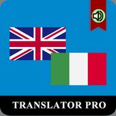 Italian English Translator Pro icon