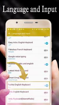 Easy Pashto & Urdu Keyboard with Cute Emojis screenshot 6