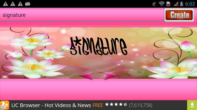 Signature Maker 2017 apk screenshot