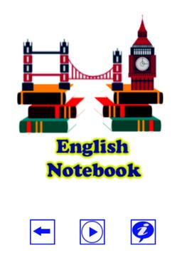 English Notebook poster