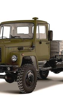 Puzzles GAZ Gazelle Truck poster