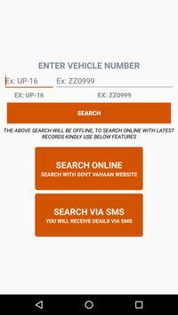 Vehicle Number Address Finder poster