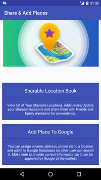 Share GPS & Add Place in Maps poster