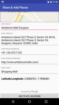Share GPS & Add Place in Maps screenshot 11