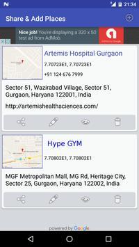 Share GPS & Add Place in Maps screenshot 1