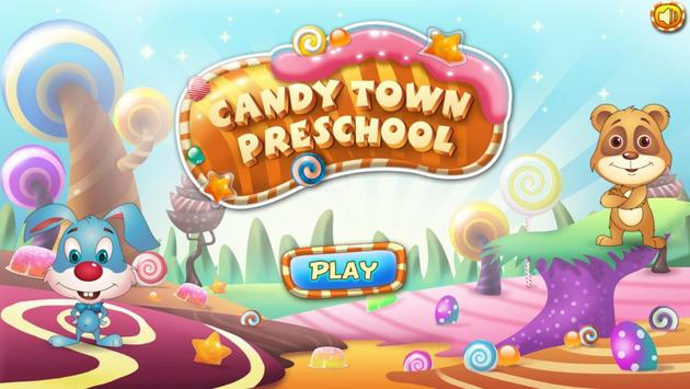 Candy Town Preschool Educational App for Toddlers poster
