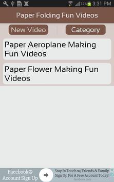 Paper Folding Fun Videos screenshot 1