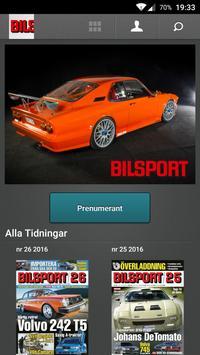 Bilsport poster
