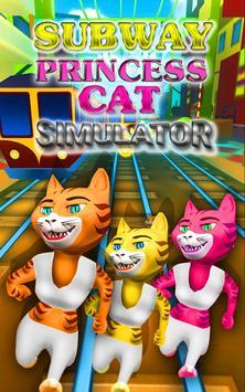 Subway Princess Cat: Simulator poster