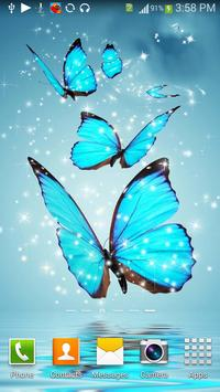 Cool Blue Butterfly HD Live WP poster