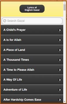 English Gazal Lyrics poster