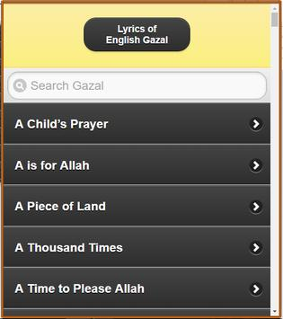English Gazal Lyrics screenshot 16