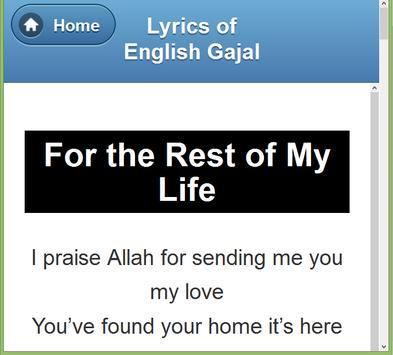 English Gazal Lyrics screenshot 13