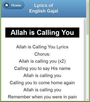 English Gazal Lyrics screenshot 1
