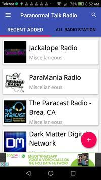 Paranormal Talk Radio poster