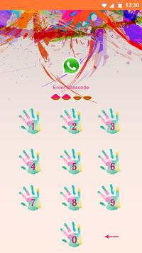 Holi AppLock theme poster