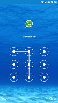 Blue Water Applock theme apk screenshot
