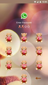 Teddy Bear Applock Theme apk screenshot