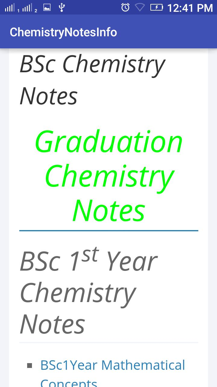 Chemistry Notes Info for Android - APK Download