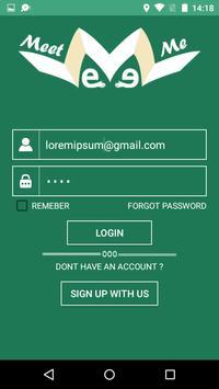 Meet Me Application apk screenshot