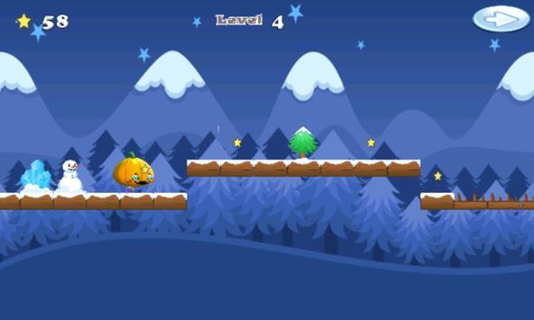 Snow pumpkin : go run and jump apk screenshot