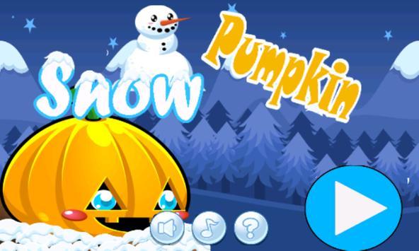 Snow pumpkin : go run and jump poster