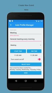 Auto Profile Manage by Events poster
