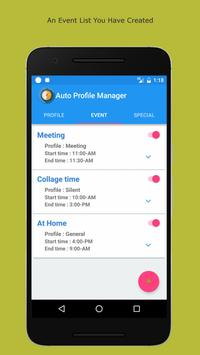 Auto Profile Manage by Events apk screenshot