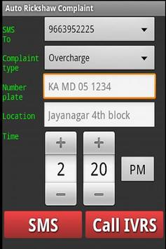 Auto Rickshaw Complaint apk screenshot