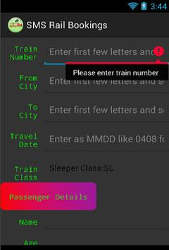SMS rail bookings poster