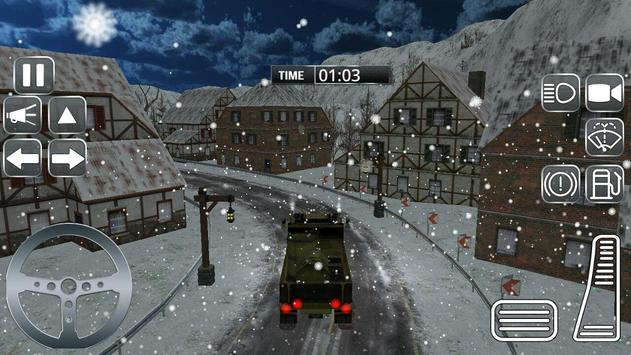 Snow Army Truck Game:Military Cargo Truck Driver poster