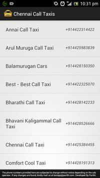 Chennai Call Taxis screenshot 2
