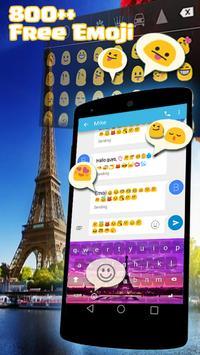 Eiffel Emoji Keyboard Skins apk screenshot