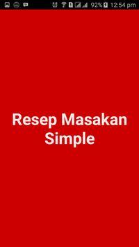 Resep Masakan Simple poster