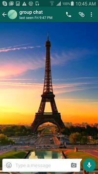 Paris Wallpapers for Chat apk screenshot