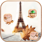 Autumn Paris Tower Theme icon
