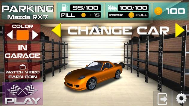 Parking Mazda RX7 Simulator Games 2018 screenshot 3