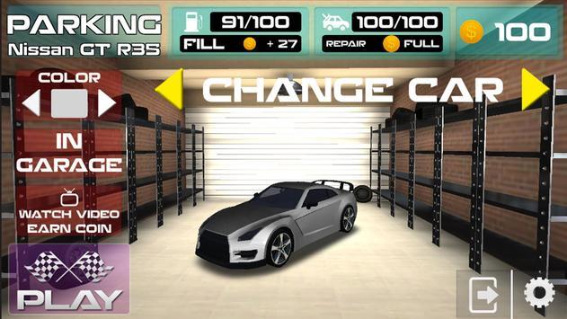 Parking Nissan GT R35 Simulator Games 2018 screenshot 3